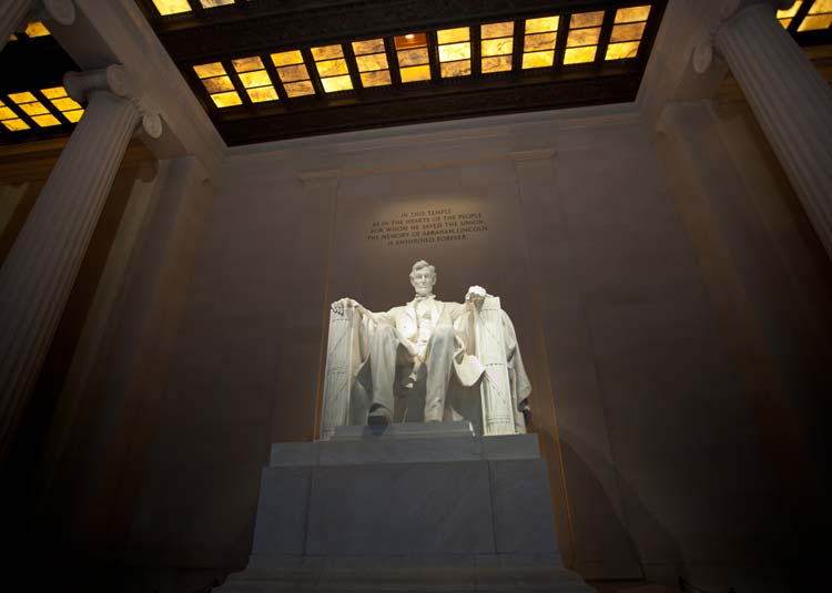 The Interior of the Lincoln Memorial