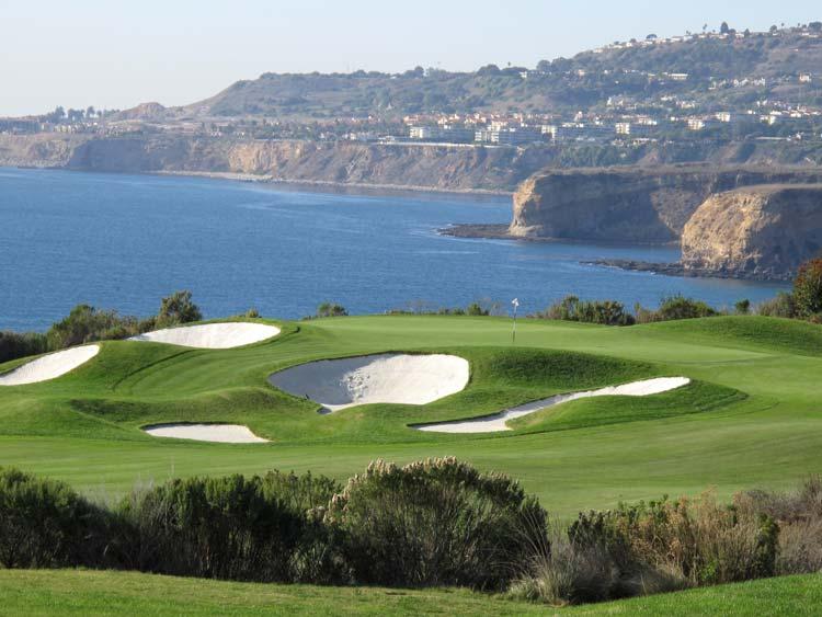 Golf near the ocean