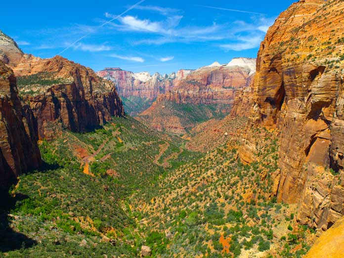 The Zion Main Canyon