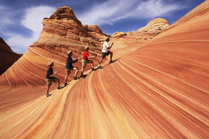 Tourists at the wave in arizonag array visit the miraculous wave in arizona and no it u0027s not water rh thebesttravelplaces fandeluxe