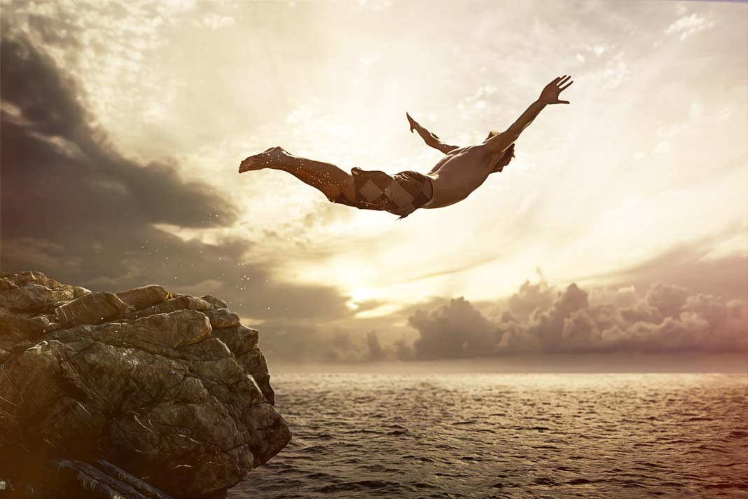 Image result for photo of one cliff diver