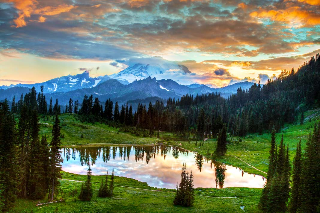 Mount Rainier National Park is the gem of Washington State