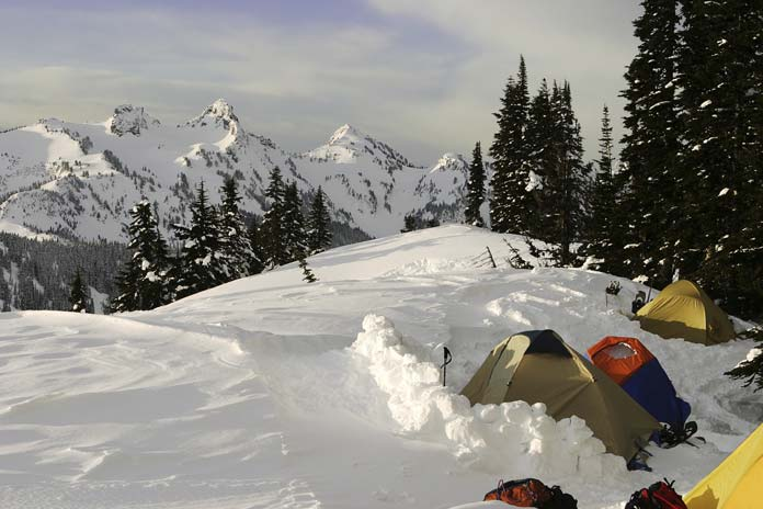 Tents at Mount Rainier