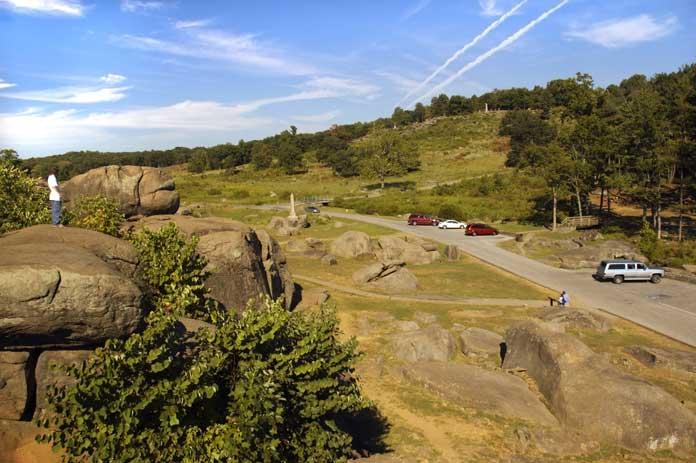 Devils Den in the Gettysburg Civil War Battlefield