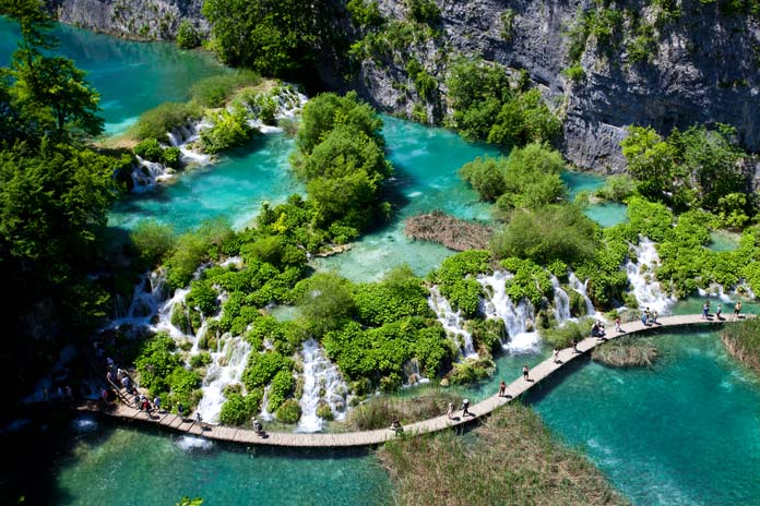 Footpath in Plitvice Lakes National Park