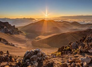 Sunrise at The Summit of Haleakala National Park