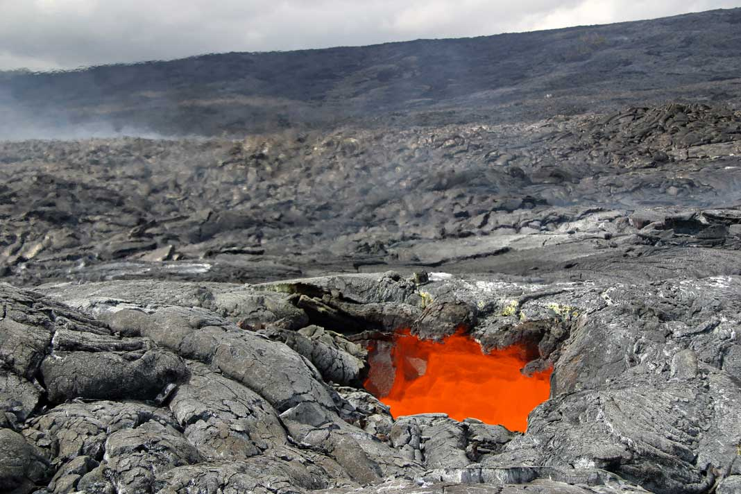 Active Volcano On The Island Of Hawaii Is Called