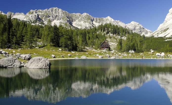Triglav lakes valley in Slovenia