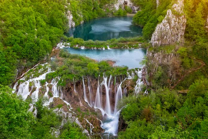 Waterfalls in the Plitvice National Park
