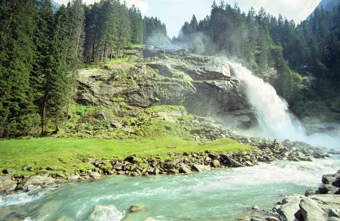Krimml Waterfalls in Austria