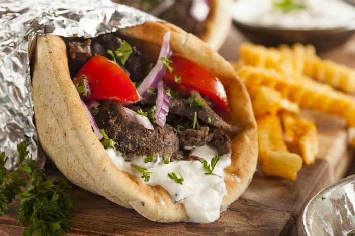 greece food gyro