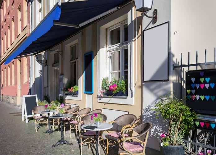 Street cafe in Potsdam