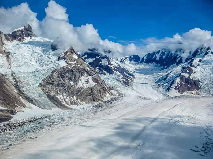 wrangell st. elias snowy glacier