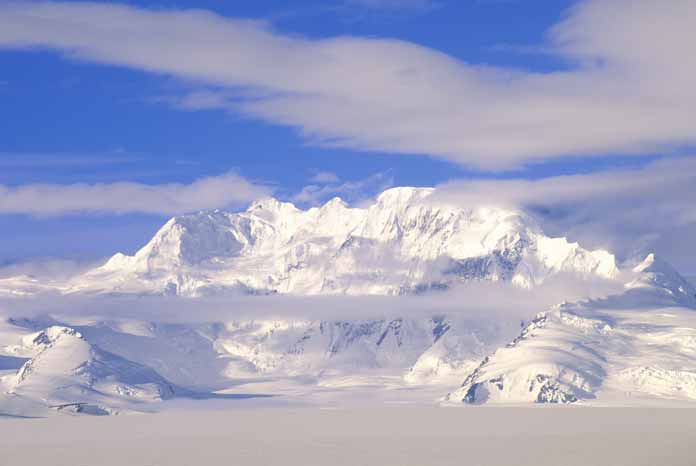 wrangell st. elias snowy mountains