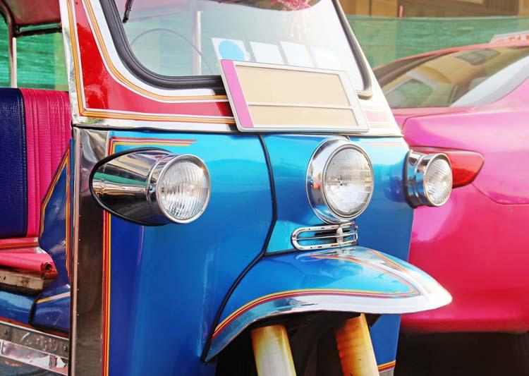 Blue-Tuk-Tuk-urban-vehicle