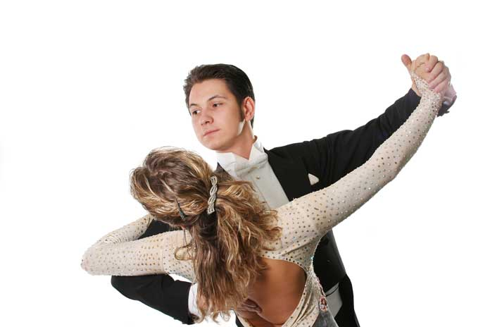 Couple performing Ballroom Dance
