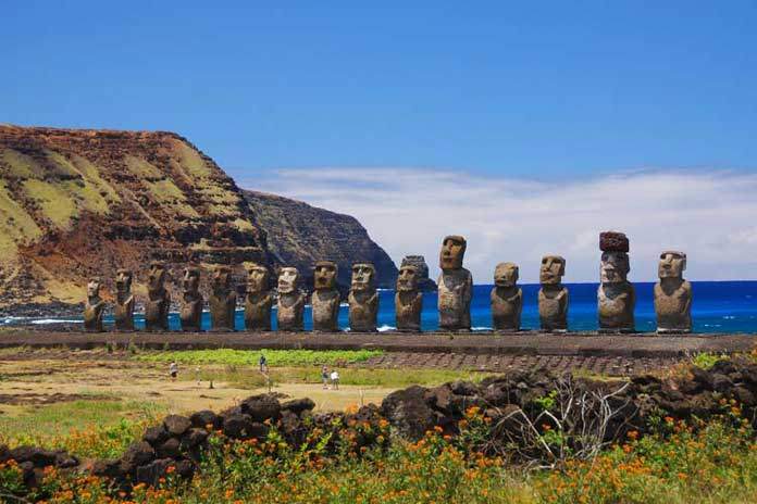 Easter Island and its famous Stone Head Figures
