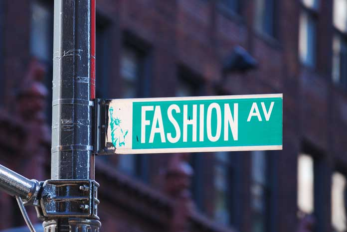 Fashion avenue in New York City, USA