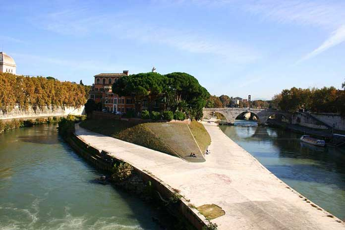 Isola Tiberina in Rome, Italy
