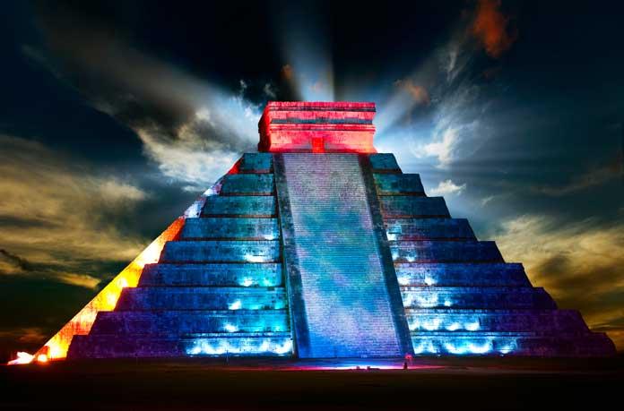 Light Show at Chichen Itza, Mexico