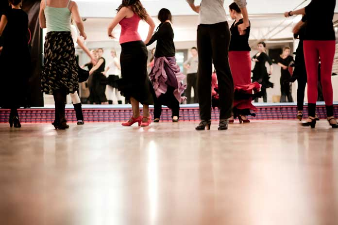 People having a Dancing Class