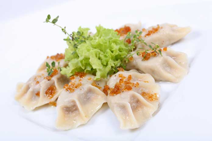 Pierogi, Traditional Polish Dumplings with Meat