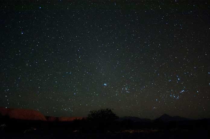 Stars in the Atacama Desert in Chile