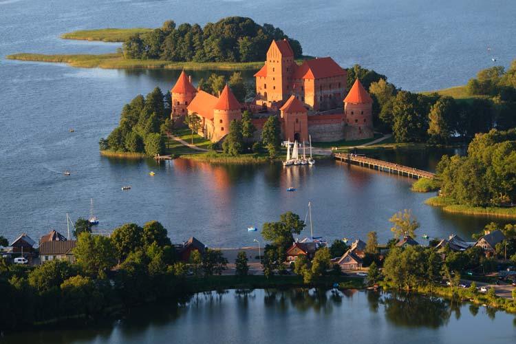 Traikai-Island-Castle-in-Trakai-Lithuania