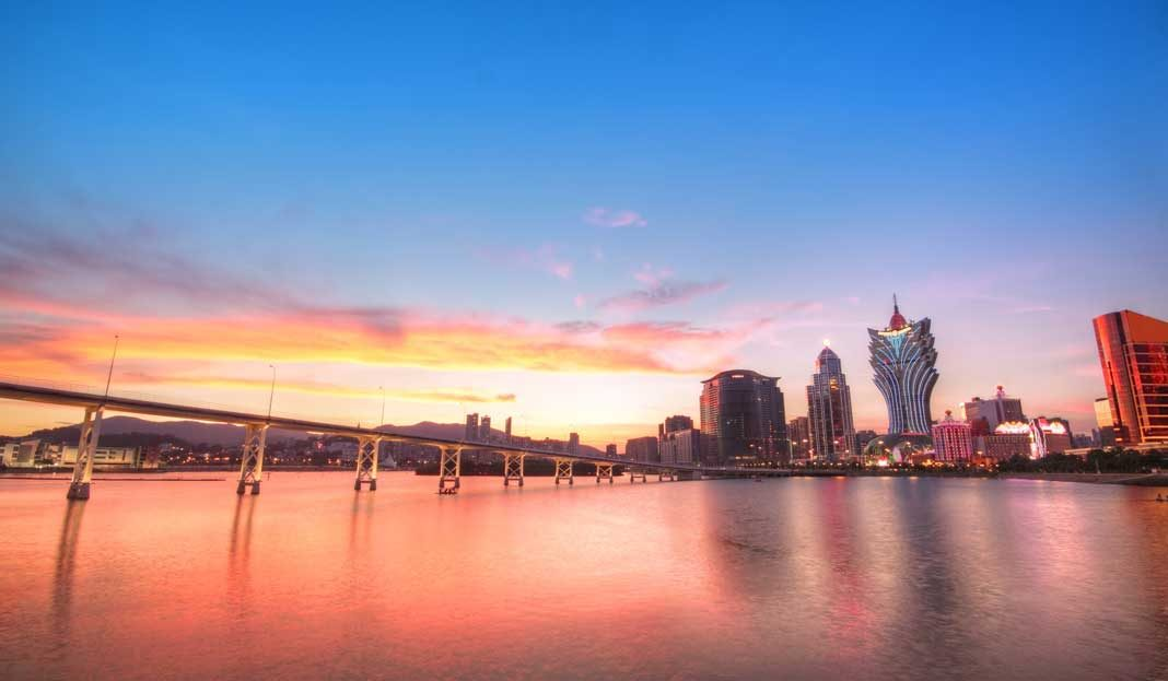 Macau China Skyline